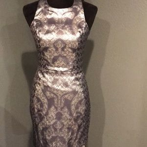 H&M Fitted Keyhole Pewter Dress